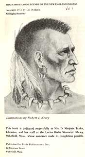 Page from Biographies and Legends of New England Indians