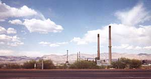 photo of smelter at San Manuel